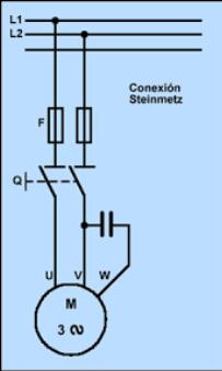 conexion motor trifasico en linea monofásica
